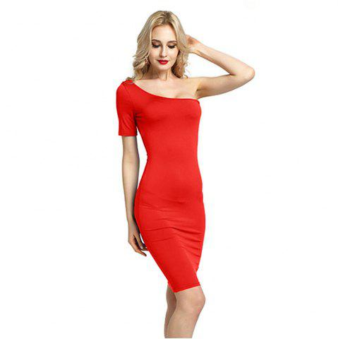 Online Women Sexy Bridesmaids Pencil Bandage Bodycon Long Sleeve Evening Cocktail Dress