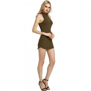 Summer Sexy Femmes Bandage Soirée Cocktail Party Club Mini Robe courte -