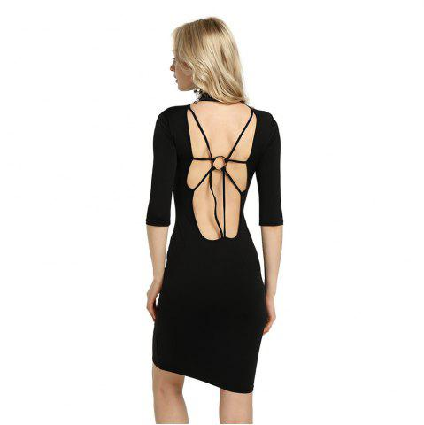Chic Summer Sexy Women Bandage Evening Cocktail Party Club Backless Mock Neck Sequin Bodycon Dress