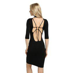 Summer Sexy Femmes Bandage Soirée Cocktail Party Club dos nu Mock Cou Sequin Moulante Dress -
