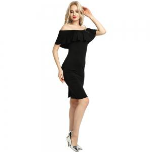 Womens Night Out robe moulante dames hors épaule robe Falbala -