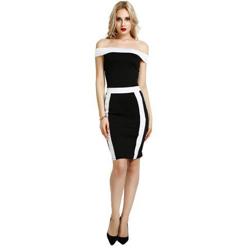 Trendy Summer Women Bandage Bodycon Off Shoulder Evening Party Cocktail Club Midi Dress