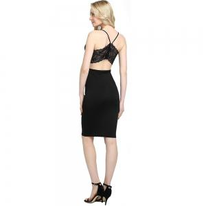 Women Summer Casual Backless Prom Evening Party Cocktail Lace Short Mini Dress -