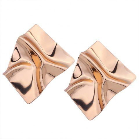 Sale Creative Design Metal Irregular Geometry Earrings