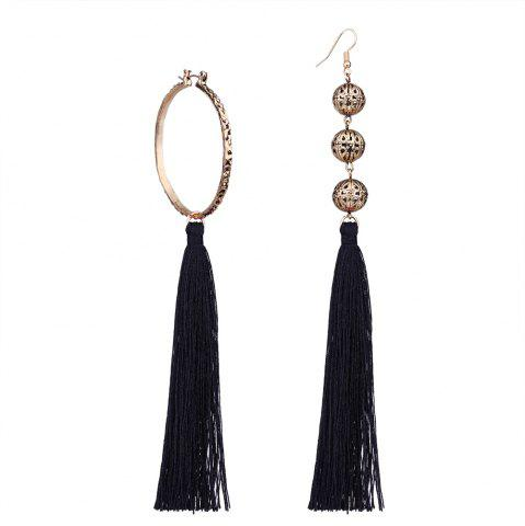Shops Bohemian Wind Asymmetric Geometric Elements Tassel Multicolor Long Earrings