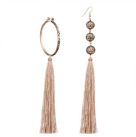 Discount Bohemian Wind Asymmetric Geometric Elements Tassel Multicolor Long Earrings