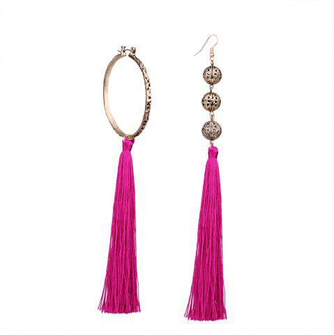 Shop Bohemian Wind Asymmetric Geometric Elements Tassel Multicolor Long Earrings