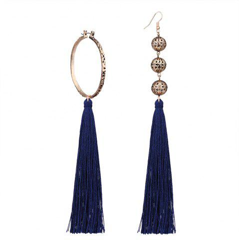 Best Bohemian Wind Asymmetric Geometric Elements Tassel Multicolor Long Earrings