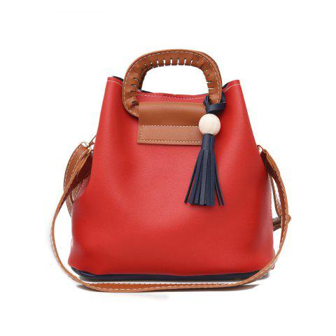 Online Contrast Color Tassels Shoulder Messenger Bag Simple Handbag