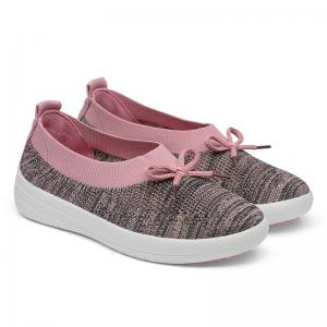 Solid Colors Slip On Breathable Casual Fashion Shallow Mouth Flat Shoes -