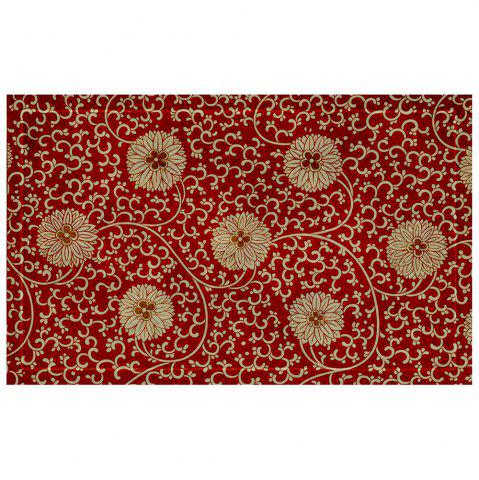 Outfits Chinese Antique Embroidered Flower Pattern Carpet Mat