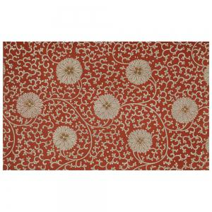 Chinese Antique Hydrangea Pattern Flannel Carpet Pads -