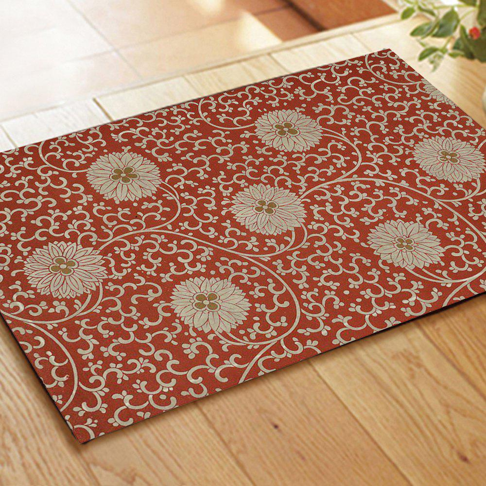 Latest Chinese Antique Hydrangea Pattern Flannel Carpet Pads