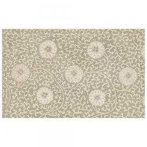 Chinese Antique White Hydrangea Pattern Rug Mats -