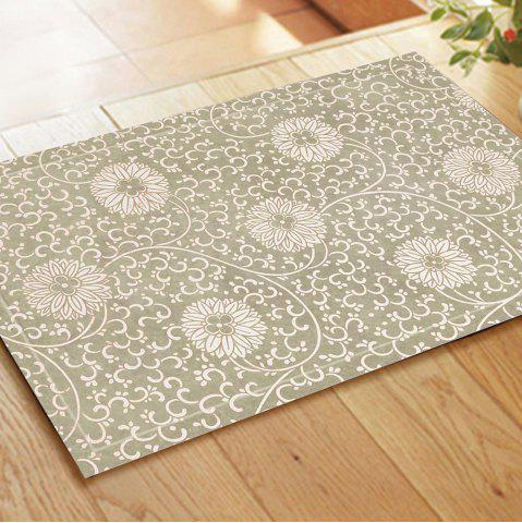 Online Chinese Antique White Hydrangea Pattern Rug Mats