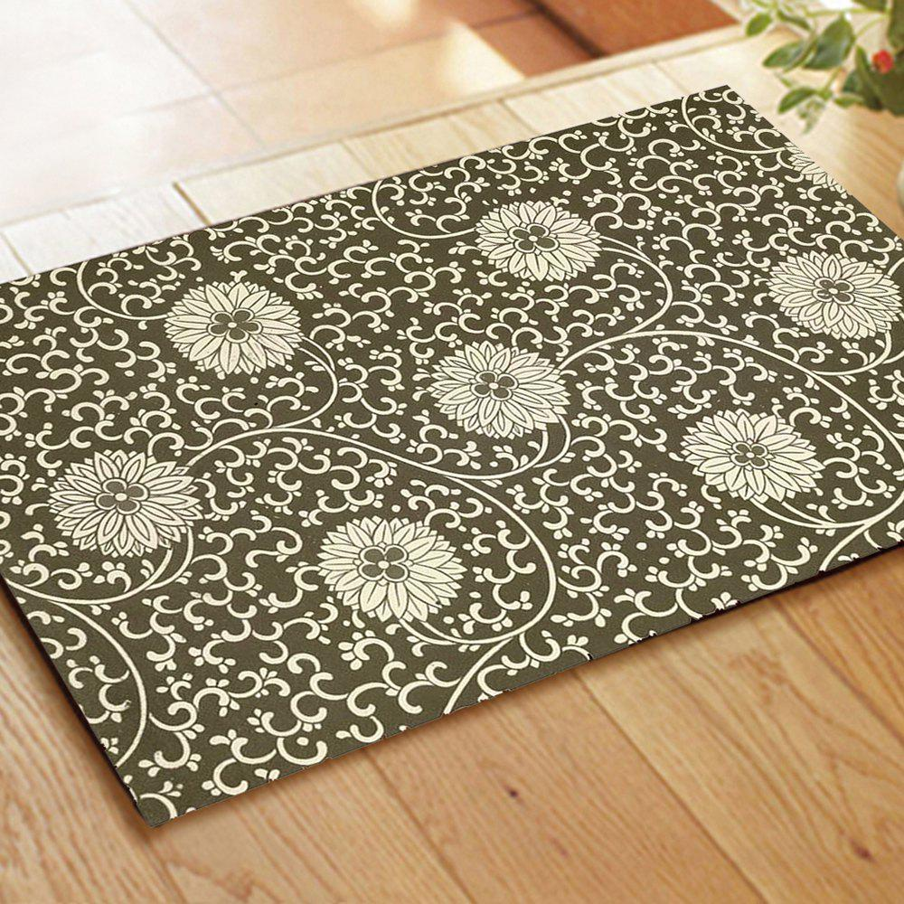 New Rrtro Hydrangea Combination Pattern Flannel Carpet Mats