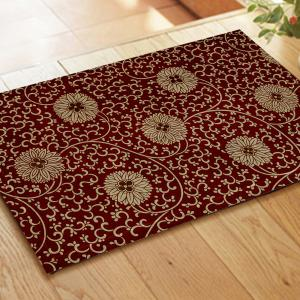 Hydrangea Combination Pattern Flannel Carpet Mats -