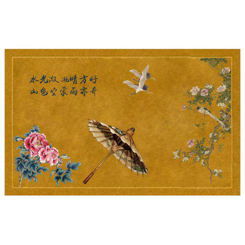 New Chinese Wind Ink Landscape Carpet Pads Doormats