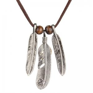 Hot Selling Ornaments Fashion Character Feathers Long Necklace -