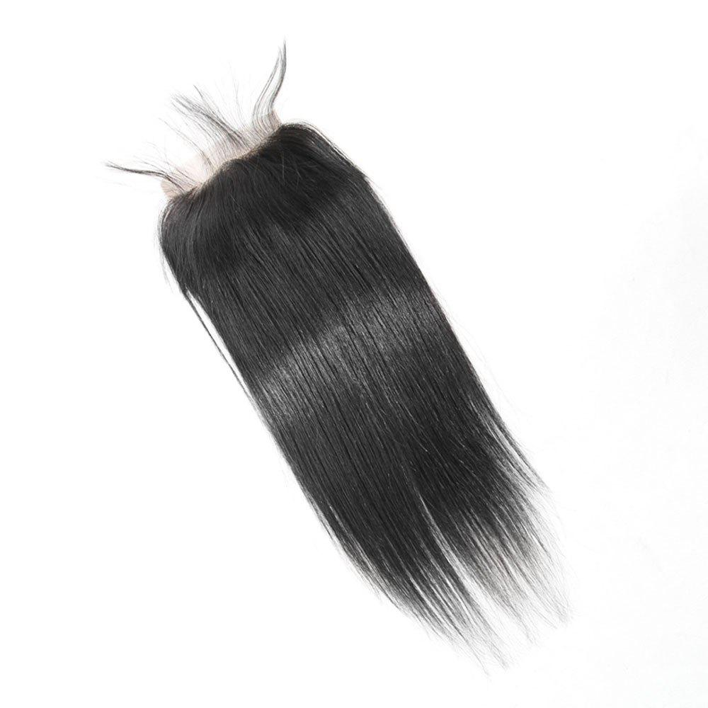 Fashion Brazilian Straight Lace Closure  Hair Natural Color