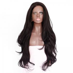 Natural Wavy Soft Fiber Hair Glueless Synthetic Lace Front Wig for Beauty Woman -