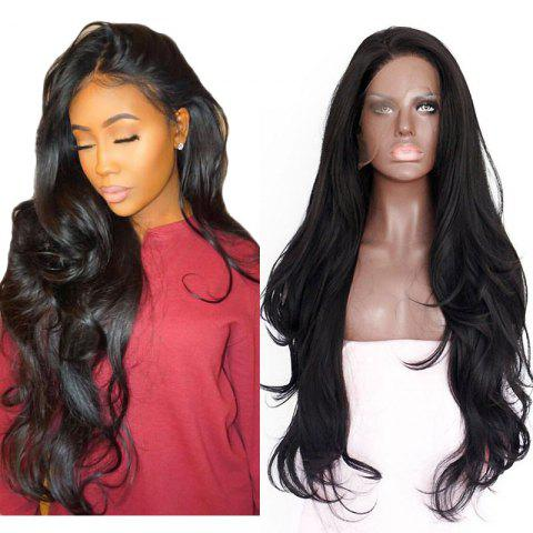 Hot Natural Wavy Soft Fiber Hair Glueless Synthetic Lace Front Wig for Beauty Woman
