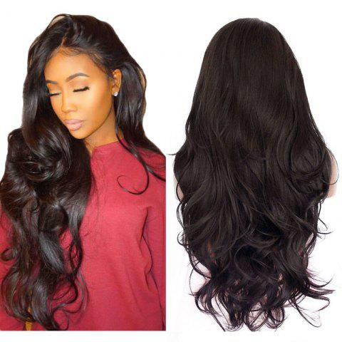 Discount Natural Wavy Soft Fiber Hair Glueless Synthetic Lace Front Wig for Beauty Woman