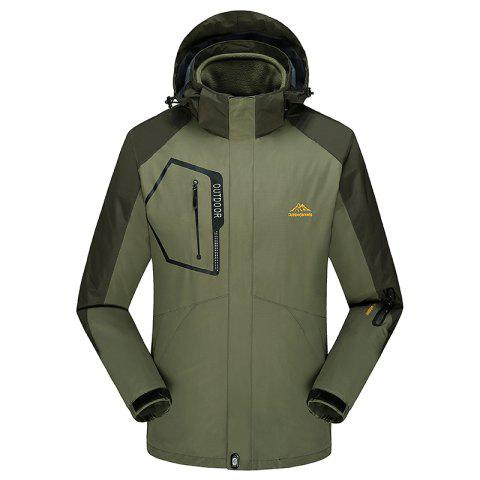 Chic Fashion Slim Velvet Thick Waterproof and Dustproof Outdoor Jacket