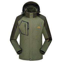 Fashion Slim Velvet Thick Waterproof and Dustproof Outdoor Jacket -