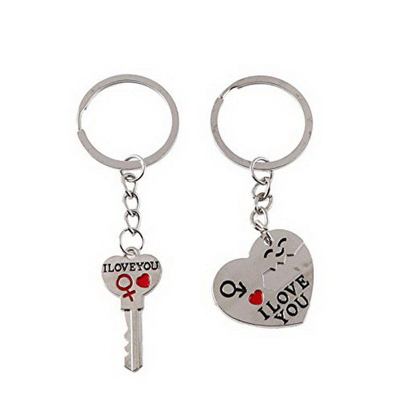 Buy Couple I LOVE YOU Letter Keychain Heart Key Ring