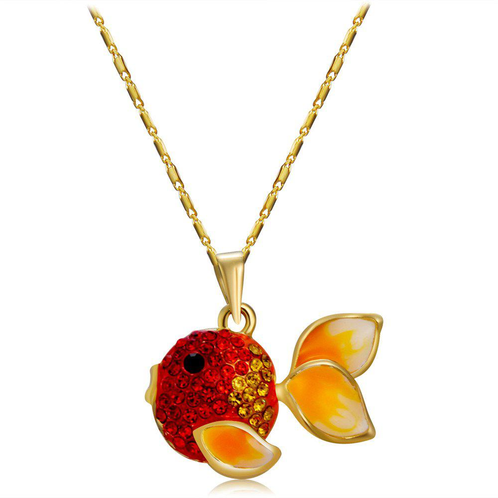 Outfit Goldfish Pendant Alloy Necklace