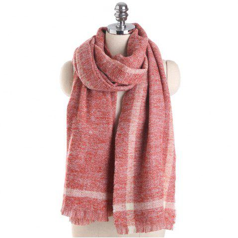 Store M1723 Geometric Striped Pure Color Cashmere Scarves