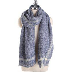 M1723 Geometric Striped Pure Color Cashmere Scarves -