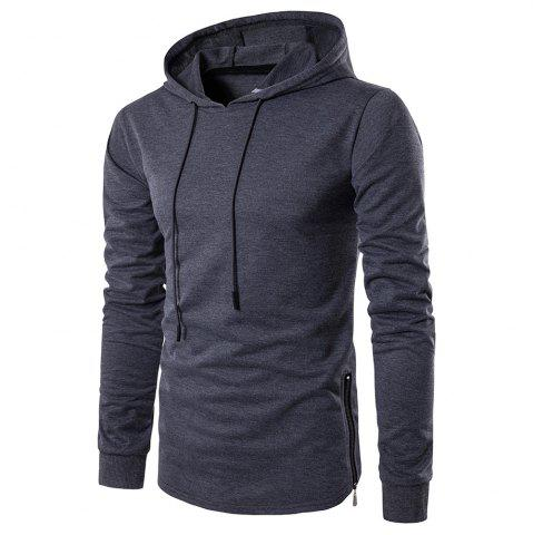Online Fashion Color Thin Zipper Hoodie