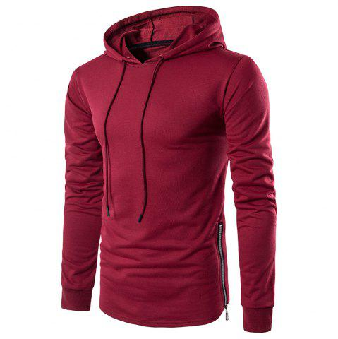 Outfit Fashion Color Thin Zipper Hoodie