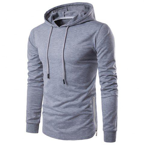 Shops Fashion Color Thin Zipper Hoodie