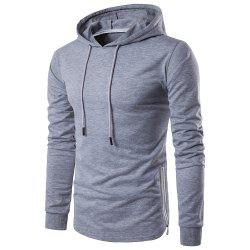 Fashion Color Thin Zipper Hoodie -