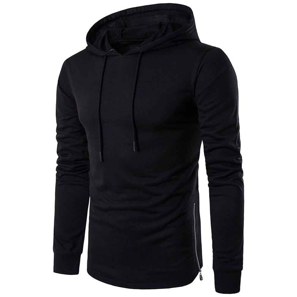 Store Fashion Color Thin Zipper Hoodie