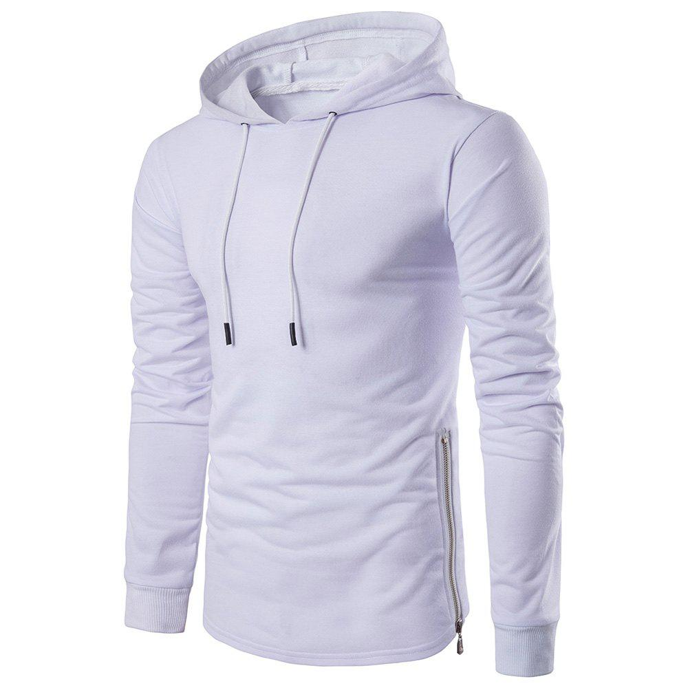 Affordable Fashion Color Thin Zipper Hoodie