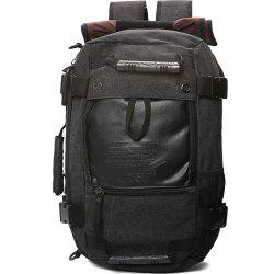 1Pc Canvas Mountaineering Backpack Sports and Casual Bags Travel Bag -