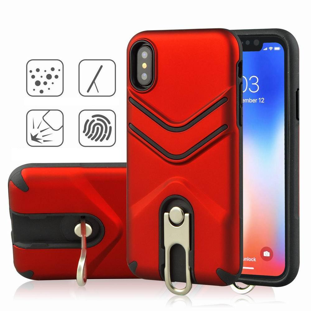 Chic Kickstand Shock Proof Case For iPhone X Case Luxury Back Cases Cover