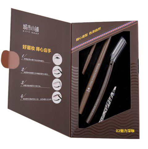 Buy City Shop NCS058 Deep Coffee Eyebrow Pencil Set