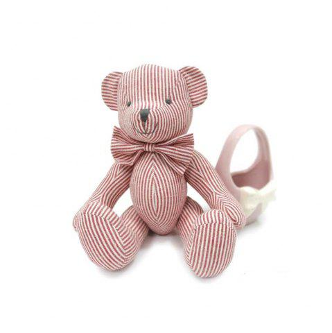 Outfits Pink Striped Cotton Fabric Cloth Doll Bear Plush Toy