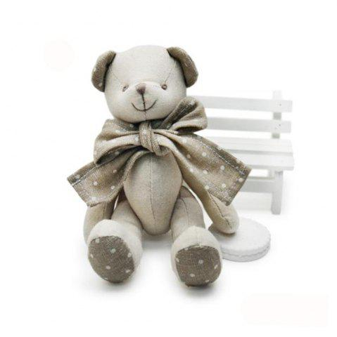 Store Baby Doll Beige Cotton Linen Plush Toy with Bear Style