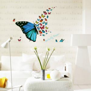 3D Butterfly Wallpaper for Living Room Home Decoration -