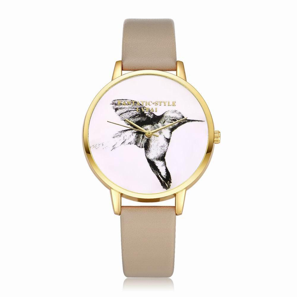 Shop Lvpai P099-G Women Leather Strap Bird Dial Wrist Watch