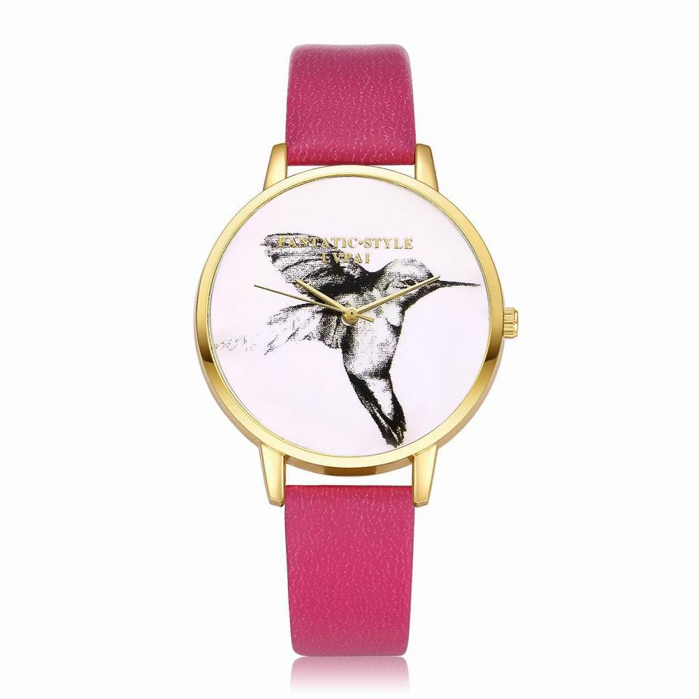 Cheap Lvpai P099-G Women Leather Strap Bird Dial Wrist Watch