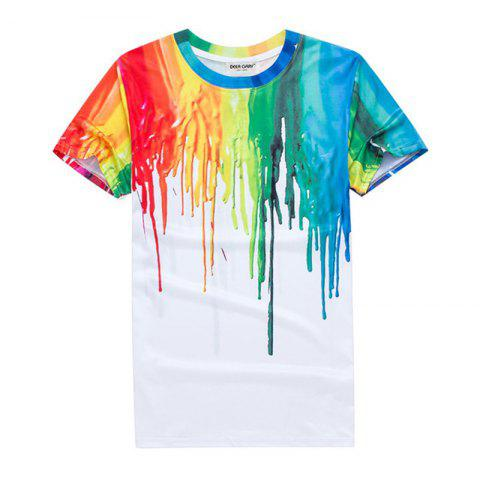 Fancy 3D Printed Color T - Shirt