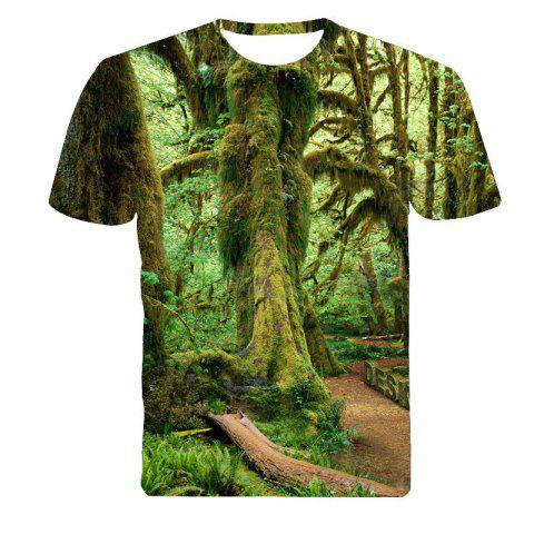 Affordable 3D Forest Print T-Shirt