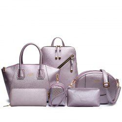 Double Back Portable Shoulder Messenger Six-Piece Ladies Bag -